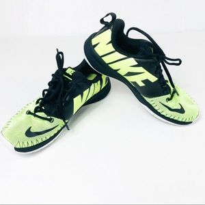 Youth Nike Team Hustle Neon Yellow Shoes Y7